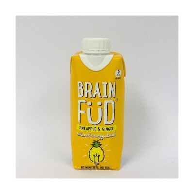 Brain Fud Fruity Energy Water Pineapple and Ginger