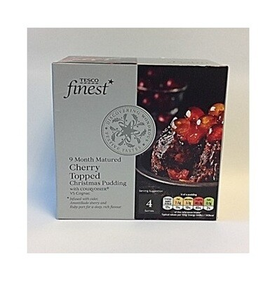 Tesco Finest Cherry Topped Christmas Pudding