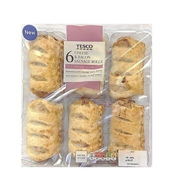 Tesco 6 Cheese and Bacon Rolls