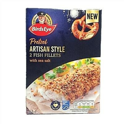 Birds Eye Pretzel Artisan Style Fish Fillets with Sea Salt