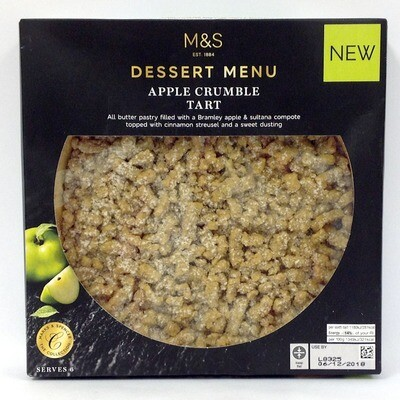 Marks and Spencer Apple Crumble Tart