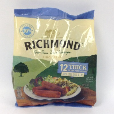 Richmond Thick Pork Sausages - 30% less salt