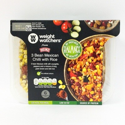 Weight Watchers 3 Bean Mexican Chilli with Rice