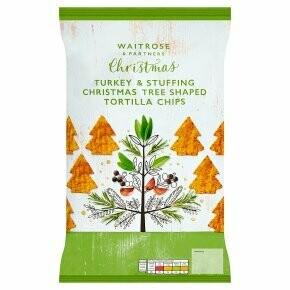 Waitrose Turkey & Stuffing Christmas Tree Shaped Tortilla Chips
