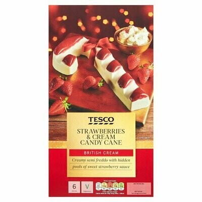 Tesco Strawberries and Cream Candy Cane