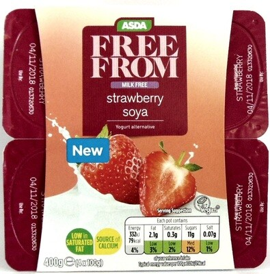 Asda Free From: Strawberry Soya Yogurts