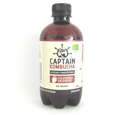 Captain Kombucha Legendary Bubbly Drink Calfornian Raspberry