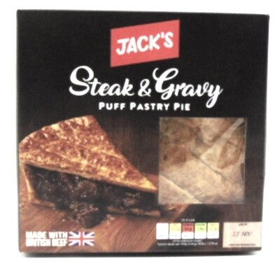 Jack's Steak and Gravy Puff Pastry Pie