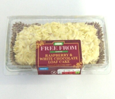 Asda Free From Raspberry & White Chocolate Loaf Cake