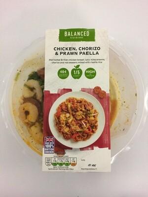 Aldi Balanced Cuisine Chicken Chorizo and King Prawn Paella