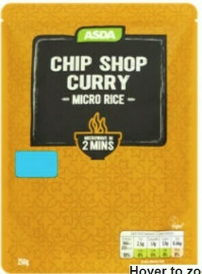 Asda Chip Shop Curry Micro Rice