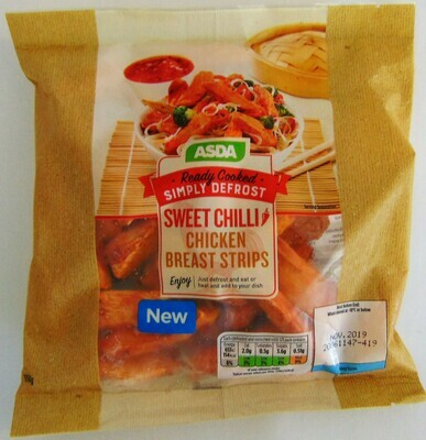 Asda Simply Defrost Cooked Sweet Chilli Chicken Breast Strips