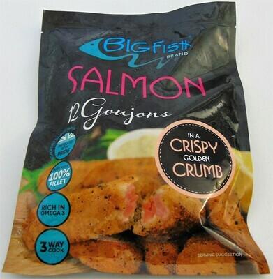 Big Fish Salmon Goujons in a Crispy Golden Crumb