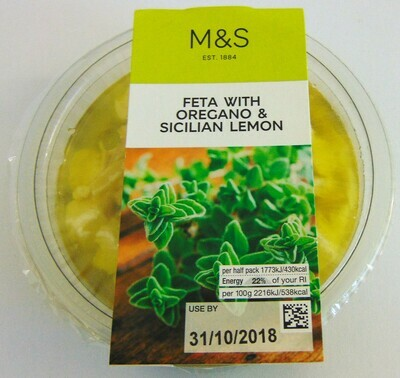 Marks & Spencer Feta with Oregano & Sicilian Lemon