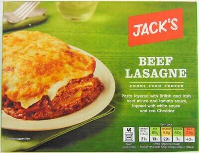 Jack's Beef Lasagne