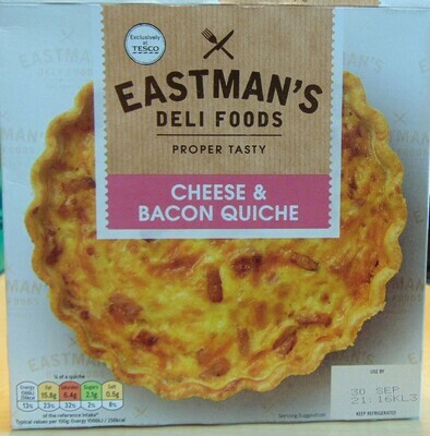 Eastman's Deli Food:Cheese and Bacon Quiche