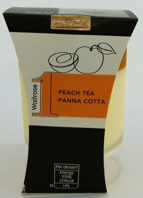 Waitrose 1 Peach Tea Panna Cotta