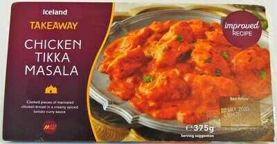Iceland Takeaway Chicken Tikka Masala (No palm oil)