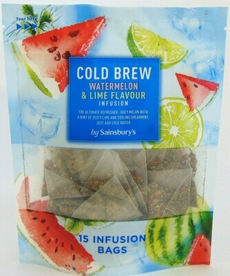 Sainsbury's Cold Brew Watermelon and Lime Flavour Infusion Tea Bags