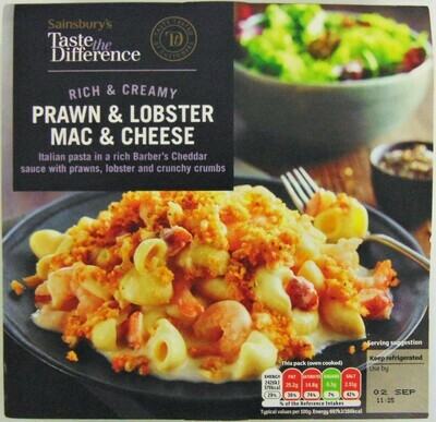 Sainsbury's Taste the Difference Prawn & Lobster Mac & Cheese