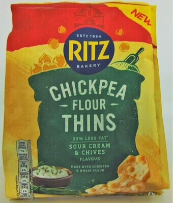Ritz Bakery Chickpea Flour Thins Sour Cream and Chive
