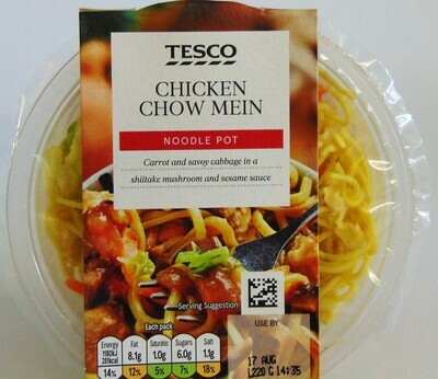 Tesco Snack Pot Chicken Chow Mein