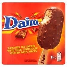 Daim: Caramel Ice Cream with Milk Chocolate Coated Daim Pieces