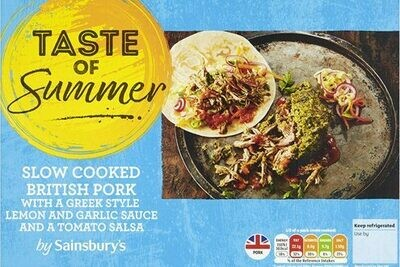 Sainsbury's Taste of Summer Slow Cooked British Pork with Greek Style Lemon & Garlic Sauce