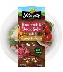 Florette Ham Hock and Cheese Salad with Gemelli Pasta
