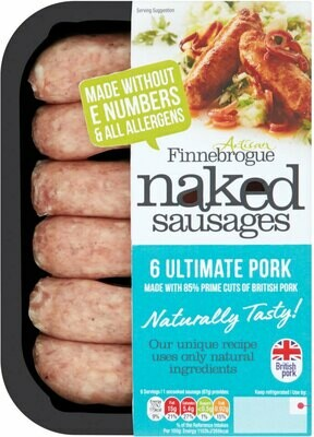 Finnebrogue Naked Ultimate Pork Sausage