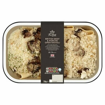 Morrisons The Best Beef and Porcini Open Ravioli with Truffle Cream