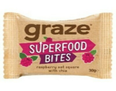 Graze Superfood Bites Rasberry Oat Sqaure with Chia