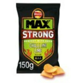 Walkers Max Strong Chilli and Lime Crisps