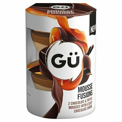 Gu Mousse Fusions Chocolate and Toffee Mousses with Silky Chocolate Creme