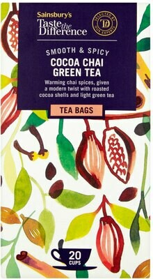 Sainsbury's Cocoa Chai Green Tea Tea Bags, Taste the Difference