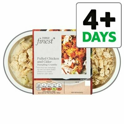 Tesco Finest Pulled Chicken And Cider Crumble