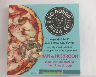 'No Dough Pizza Co' Ham and Mushroom Cauliflower Pizza
