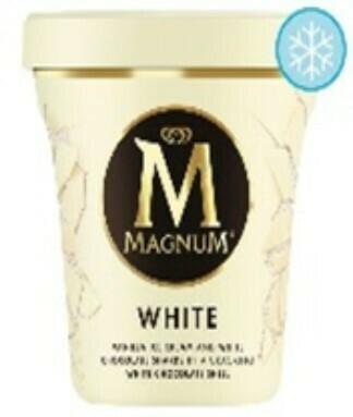 Magnum White Vanilla Ice Cream with White Chocolate Shards