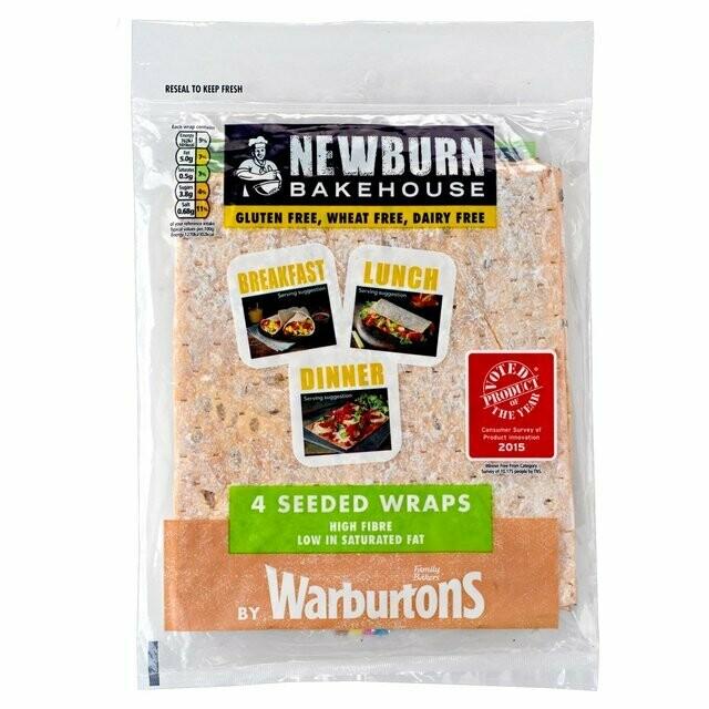 Warburtons Newburn Bakehouse Gluten Free Protein Wraps x4