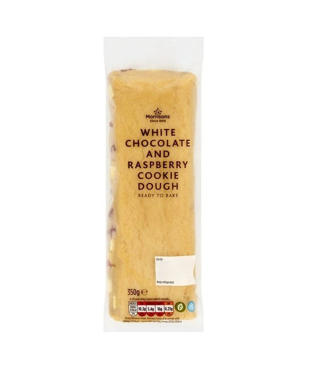 Morrisons White Chocolate and Rasberry Cookie Dough