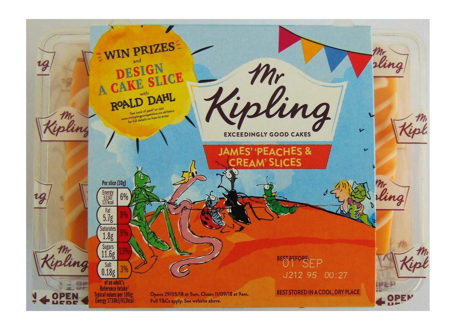 Mr Kipling James' Peaches and Cream Slices