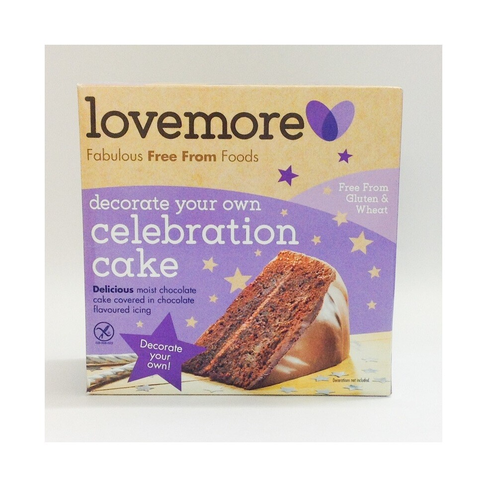 Lovemore Chocolate Celebration Cake (Gluten Free)