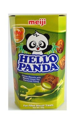 Hello Panda Matcha Green Tea Cocoa Biscuits
