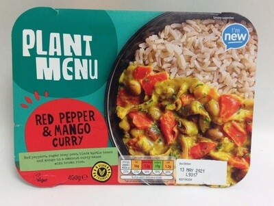 Aldi Plant Menu Red Pepper & Mango Curry