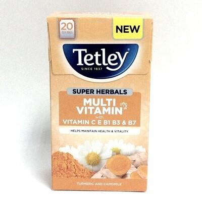 Tetley Super Herbals Multi Vitamin Turmeric & Camomile Teabags