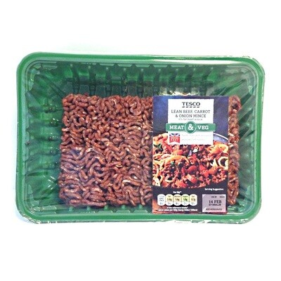 Tesco 5% Lean Beef, Carrot & Onion Mince