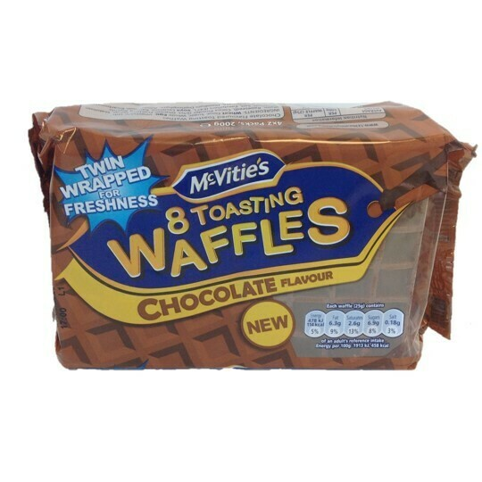McVitie's 8 Toasting Waffles Chocolate Flavour