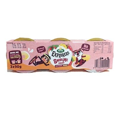 Arla Explorers Swirl Yogurt Mango Raspberry