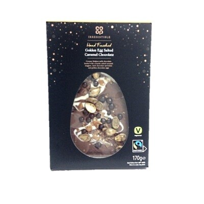 Co-op Irresistible Hand Finished Golden Egg Salted Caramel Chocolate