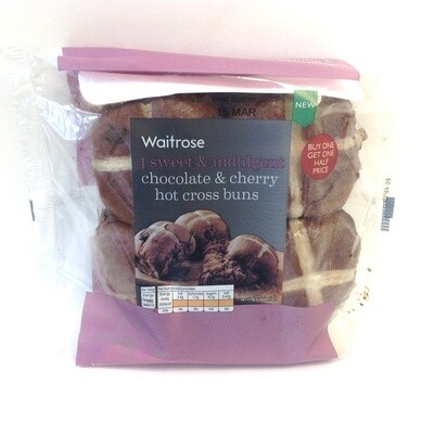 Waitrose Chocolate & Cherry Hot Cross Buns